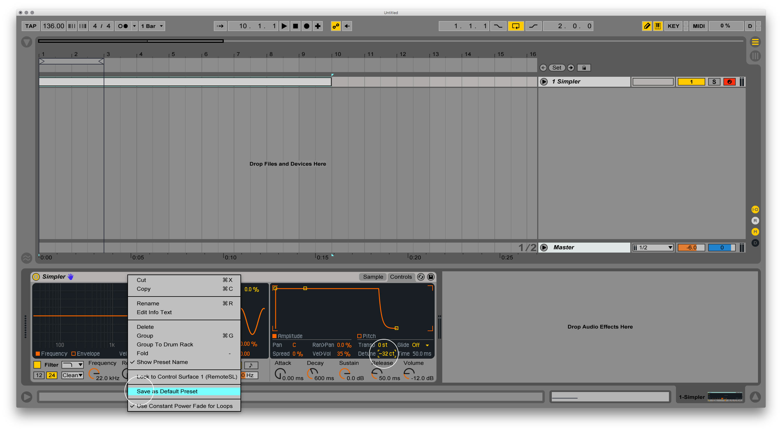 How to make 432 Hz tuning in Ableton