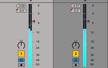 reaper how to set all faders to 0db