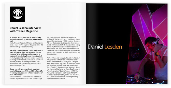 Interview with Trance Magazine