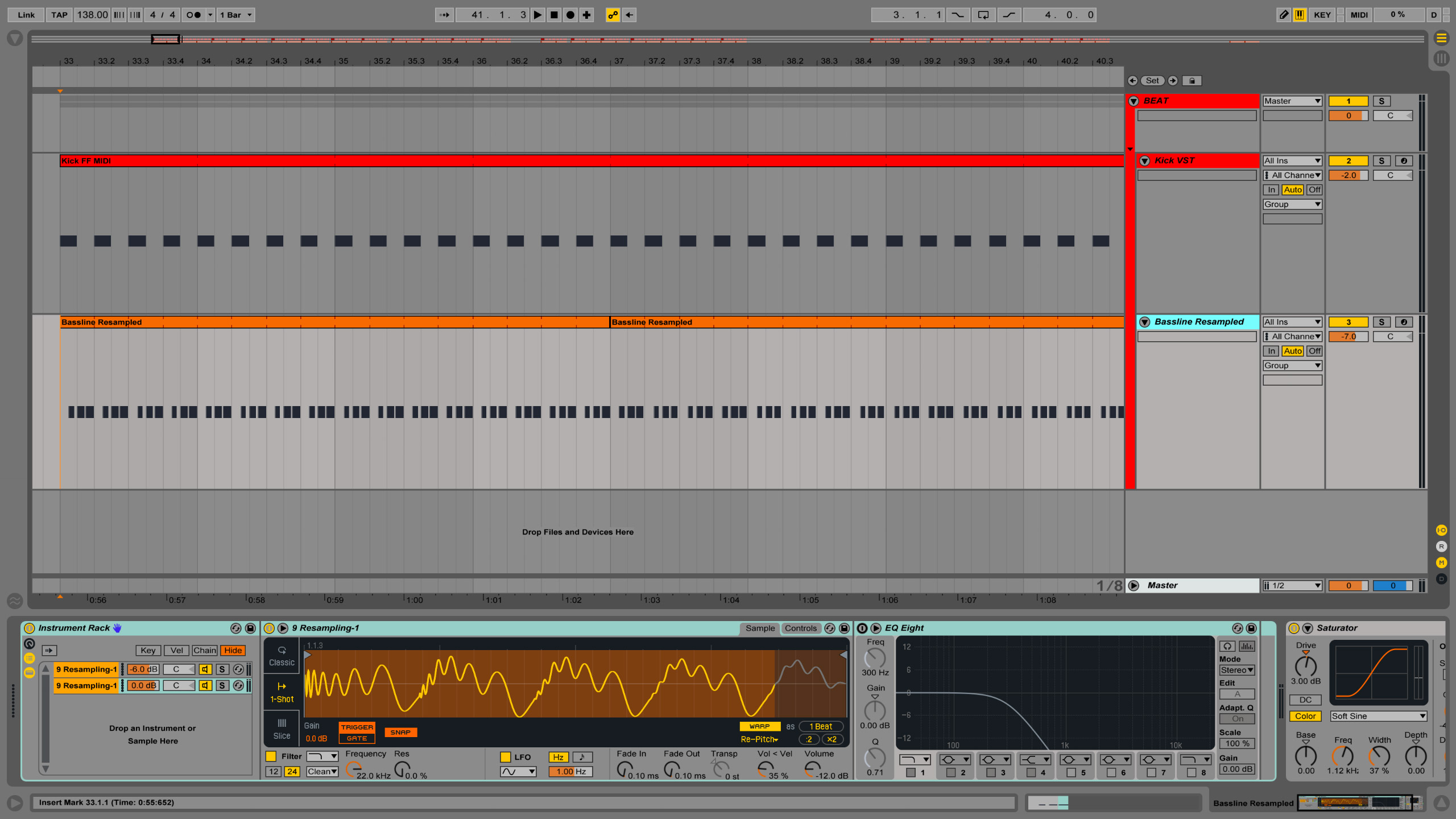 How to fit kick and bass together
