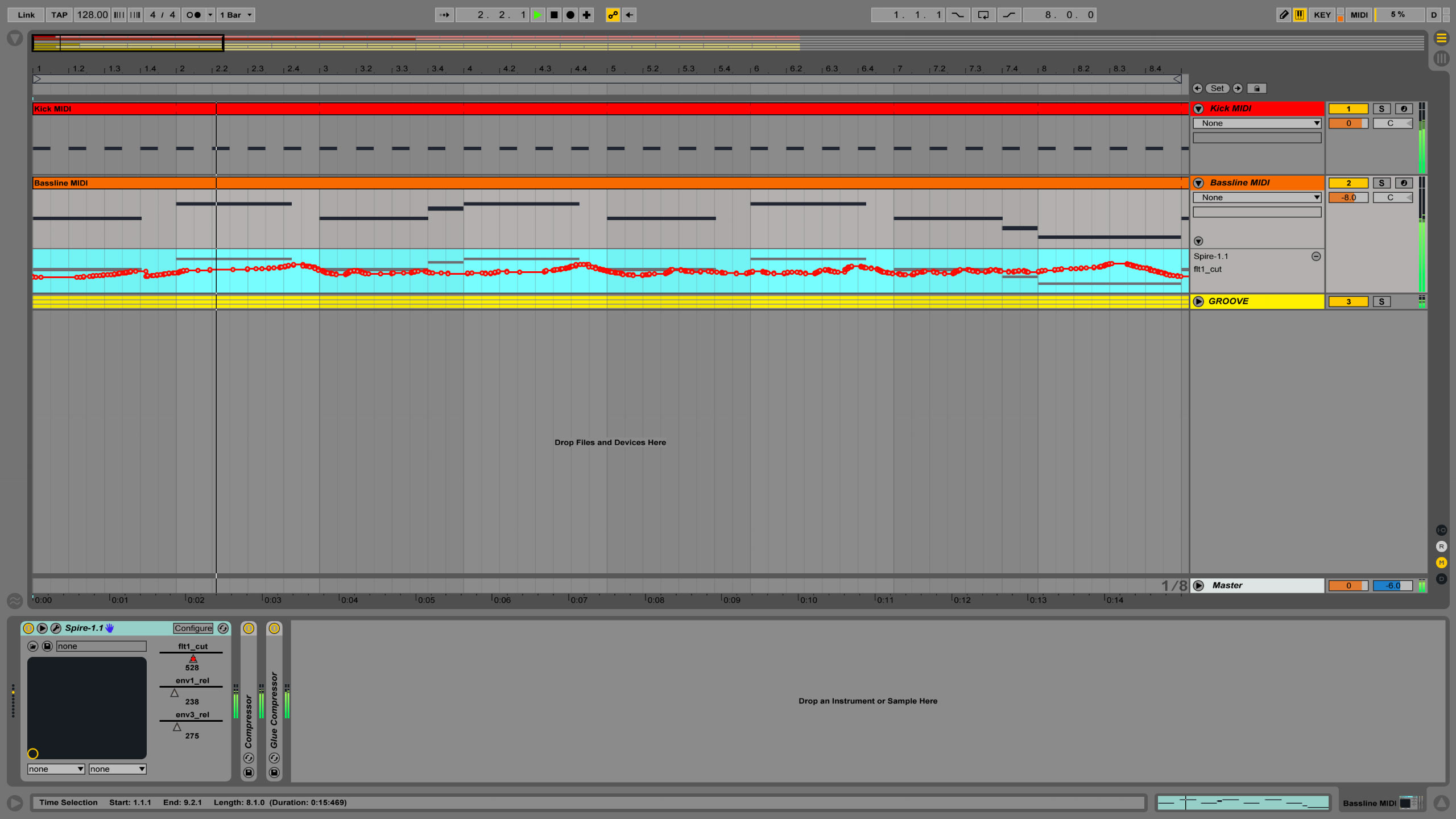 Controlling parameters in Ableton using modulation