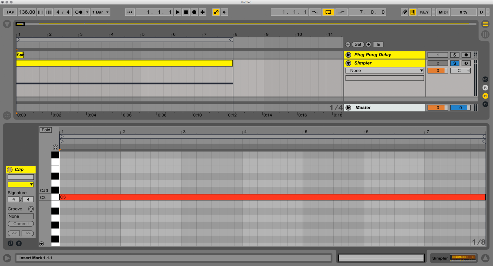 how to put a sample in ableton