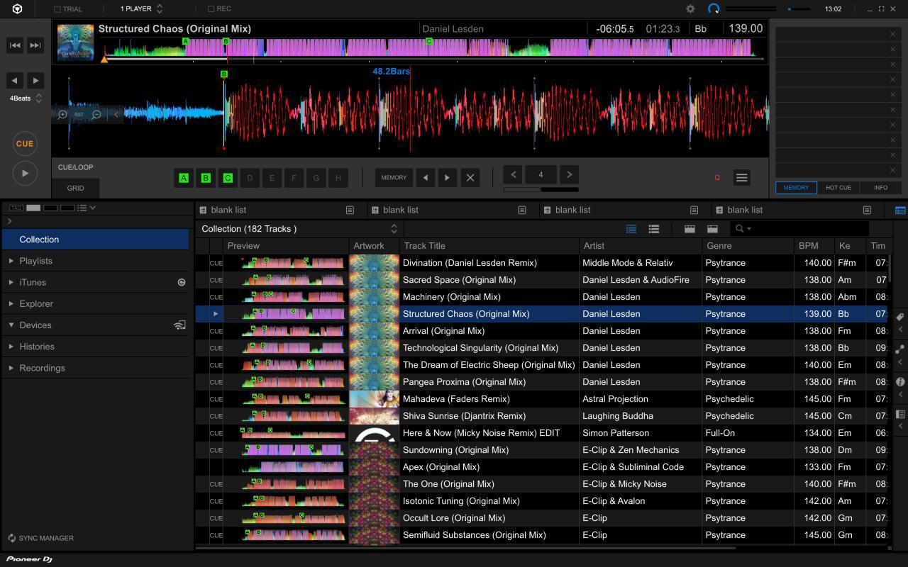 Playlist or tracklist